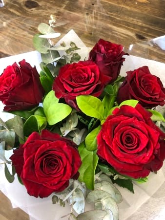 Six Rich Red Roses